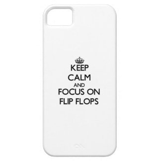 Keep Calm and focus on Flip Flops iPhone 5/5S Cases