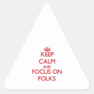 Keep Calm and focus on Folks Sticker