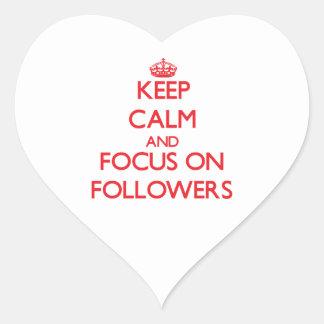 Keep Calm and focus on Followers Heart Sticker
