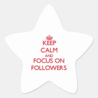 Keep Calm and focus on Followers Sticker