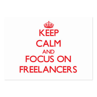 Keep Calm and focus on Freelancers Business Card Template