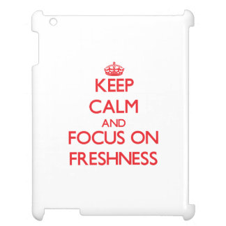 Keep Calm and focus on Freshness Cover For The iPad 2 3 4