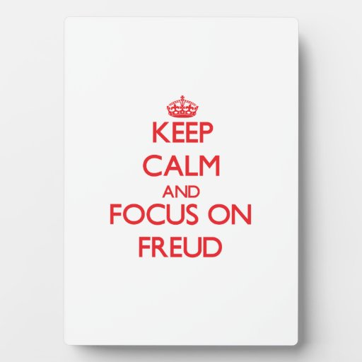 Keep Calm and focus on Freud Photo Plaque