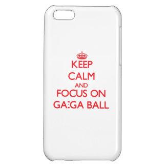 Keep calm and focus on Ga-Ga Ball iPhone 5C Cover
