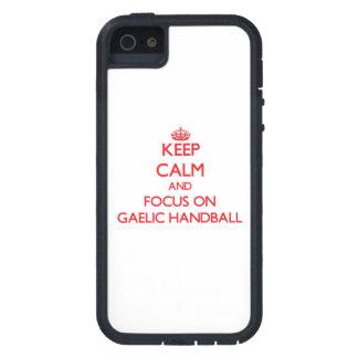 Keep calm and focus on Gaelic Handball iPhone 5 Cases