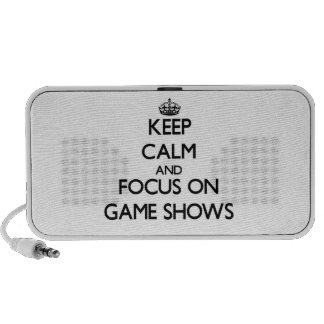 Keep Calm and focus on Game Shows iPod Speaker