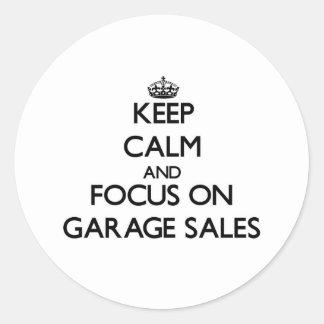 Keep Calm and focus on Garage Sales Sticker