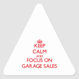 Keep Calm and focus on Garage Sales Stickers