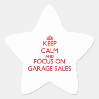 Keep Calm and focus on Garage Sales Star Sticker
