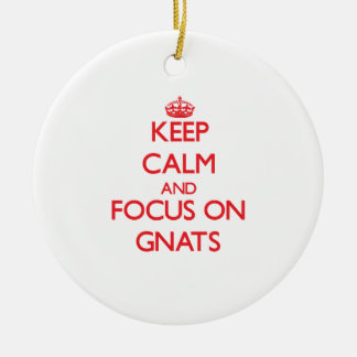 Keep Calm and focus on Gnats Ceramic Ornament