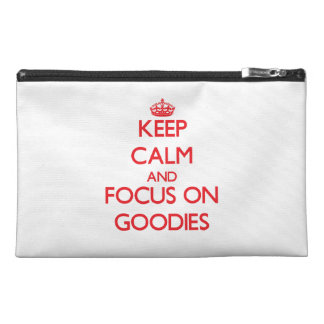 Keep Calm and focus on Goodies Travel Accessories Bag