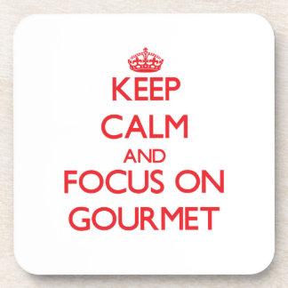 Keep Calm and focus on Gourmet Coaster