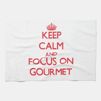 Keep Calm and focus on Gourmet Towel