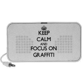 Keep Calm and focus on Graffiti Notebook Speaker