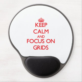Keep Calm and focus on Grids Gel Mouse Mats