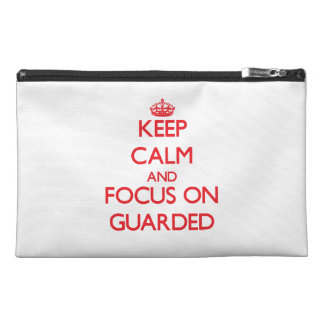 Keep Calm and focus on Guarded Travel Accessories Bags