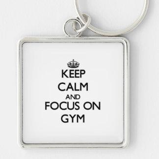 Keep Calm and focus on Gym Keychain