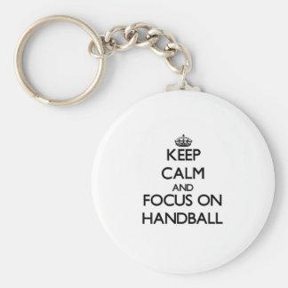 Keep calm and focus on Handball Key Ring