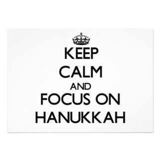 Keep Calm and focus on Hanukkah Personalized Invites