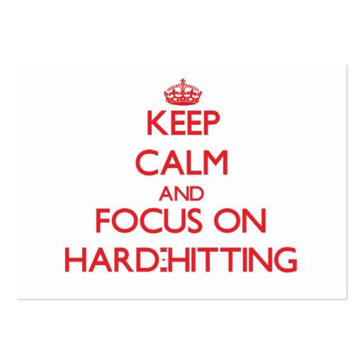 Keep Calm and focus on Hard-Hitting Business Card