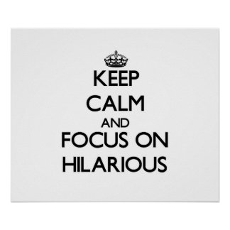 Keep Calm and focus on Hilarious Posters