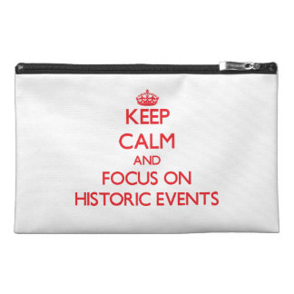 Keep Calm and focus on Historic Events Travel Accessories Bags
