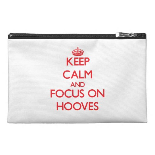 Keep Calm and focus on Hooves Travel Accessories Bags