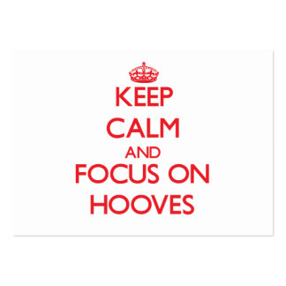 Keep Calm and focus on Hooves Business Card Templates