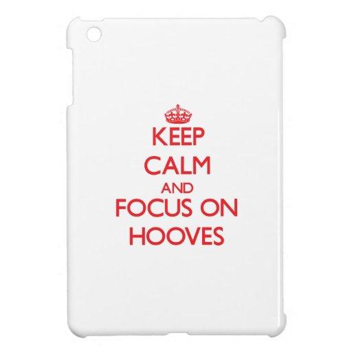 Keep Calm and focus on Hooves iPad Mini Case