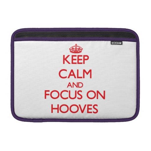 Keep Calm and focus on Hooves MacBook Sleeves