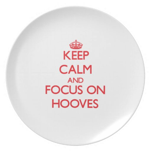 Keep Calm and focus on Hooves Party Plates