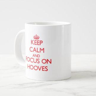 Keep Calm and focus on Hooves Extra Large Mug