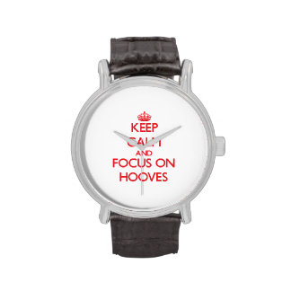 Keep Calm and focus on Hooves Wrist Watches