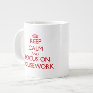 Keep Calm and focus on Housework Jumbo Mug