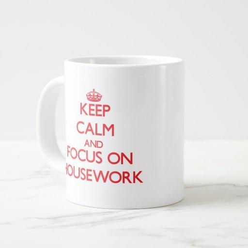 Keep Calm and focus on Housework Jumbo Mugs