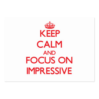 Keep Calm and focus on Impressive Business Card Template
