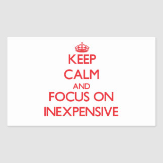 Keep Calm and focus on Inexpensive Rectangle Sticker