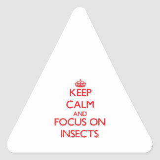 Keep Calm and focus on Insects Stickers