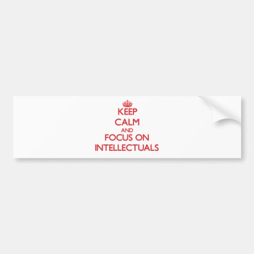 Keep Calm and focus on Intellectuals Bumper Stickers