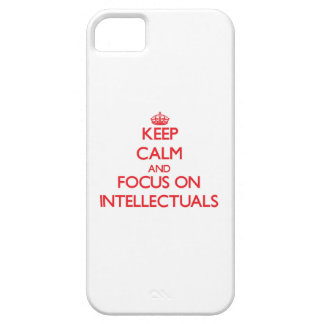 Keep Calm and focus on Intellectuals iPhone 5 Case