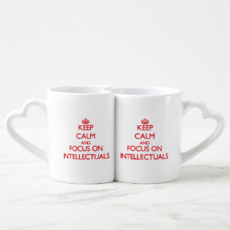 Keep Calm and focus on Intellectuals Couple Mugs