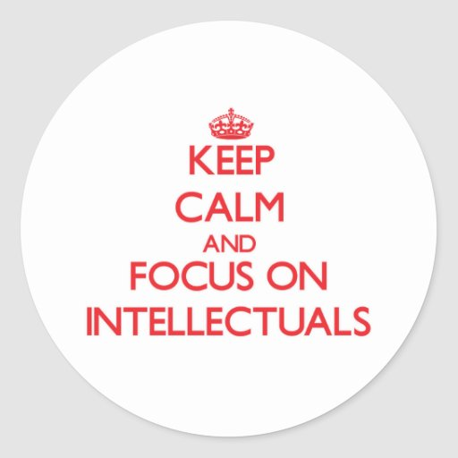 Keep Calm and focus on Intellectuals Round Stickers