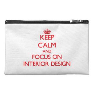 Keep Calm and focus on Interior Design Travel Accessories Bag