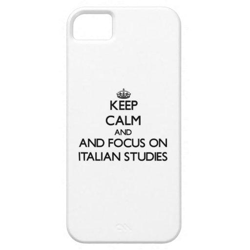 Keep calm and focus on Italian Studies iPhone 5/5S Case
