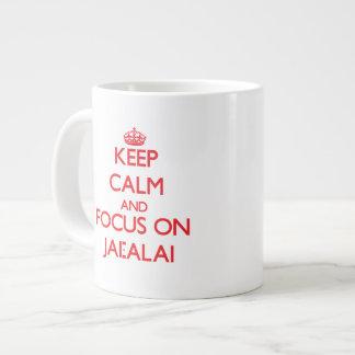 Keep calm and focus on Jai-Alai Jumbo Mug