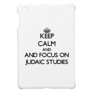 Keep calm and focus on Judaic Studies iPad Mini Cover