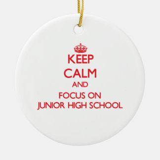 Keep Calm and focus on Junior High School Christmas Ornaments
