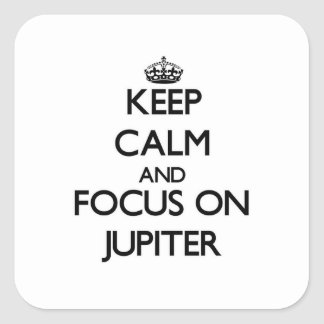 Keep Calm and focus on Jupiter Stickers