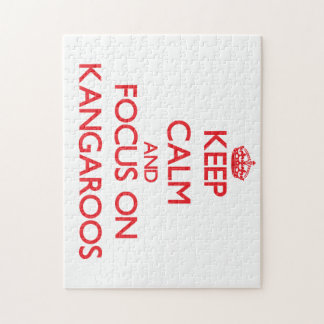 Keep Calm and focus on Kangaroos Jigsaw Puzzles
