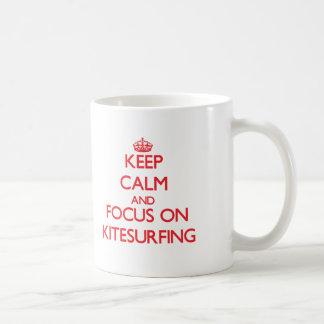 Keep calm and focus on Kitesurfing Coffee Mug